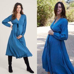 Hatch Collection Cotton Swiss Dot Shana Maternity Dress